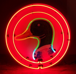 Duckhead Clothing Neon Sign  MY BEER SIGN COLLECTION – Not for sale but can be bought… duckhead