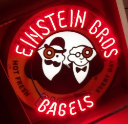 Einstein Brothers Bagels Neon Sign  MY BEER SIGN COLLECTION – Not for sale but can be bought… einsteinbrosbagels