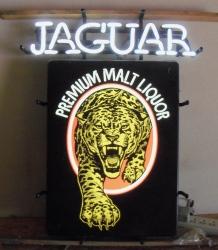 Jaguar Malt Liquor Neon Sign