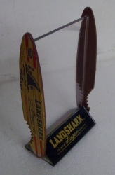 Landshark Lager Beer Bar Table Tent