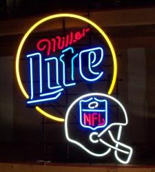 Lite Beer NFL Helmet Neon Sign