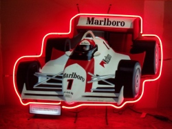Marlboro Cigarettes Indy Car Neon Sign beer sign collection My Beer Sign Collection 2 – Not for sale but can be bought… marlboroindycar