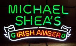 Michael Shea S Irish Amber Neon Beer Bar Sign Light