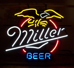 miller eagle neon beer bar sign light Miller Eagle Neon Beer Bar Sign Light millerbeereaglenos