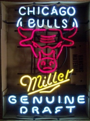 Miller Genuine Draft Beer NBA Chicago Bulls Neon Sign beer sign collection My Beer Sign Collection 2 – Not for sale but can be bought… millergenuinedraftchicagobulls