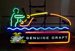 Miller Genuine Draft Beer Fly Fisherman Neon Sign beer sign collection My Beer Sign Collection 2 – Not for sale but can be bought… millergenuinedraftflyfisherman