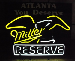 Miller Reserve Beer Atlanta Neon Sign
