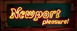 Newport Cigarettes Pleasure Neon Sign beer sign collection My Beer Sign Collection 2 – Not for sale but can be bought… newportpleasurenib