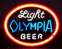 Olympia Light Beer Neon Sign beer sign collection My Beer Sign Collection 2 – Not for sale but can be bought… olympialightbeermini