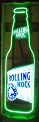 Rolling Rock Beer Bottle Neon Sign