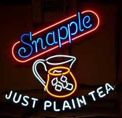 Snapple Just Plain Tea Neon Sign Light