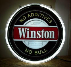Winston Cigarettes Neon Sign