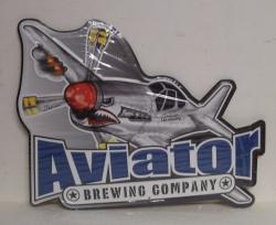 Aviator Beer Tin Sign