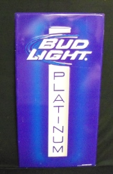 Bud Light Platinum Beer Bar Tin Tacker Sign