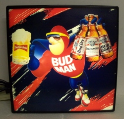 Budweiser Beer Bud Man Light  My Beer Sign Collection – Not for sale but can be bought… budweiserbudmanlight