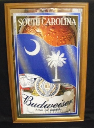 Budweiser Beer South Carolina Mirror