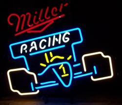 Miller Beer Racing Indy Neon Sign
