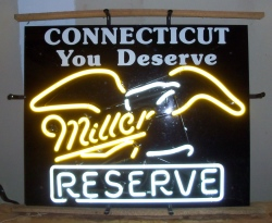 Miller Reserve Beer Neon Sign