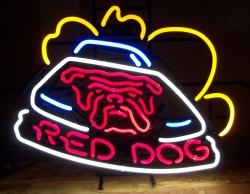 Red Dog Beer Neon Sign beer sign collection My Beer Sign Collection 3 – Not for sale but can be bought… reddogracecar