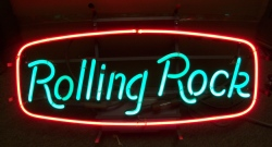 Rolling Rock Beer Neon Sign