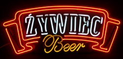 Zywiec Beer Neon Sign beer sign collection My Beer Sign Collection 2 – Not for sale but can be bought… zywiecbeer2013
