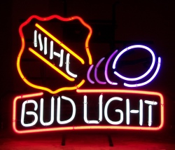 bud light beer nhl neon sign