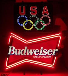 budweiser beer olympics neon sign