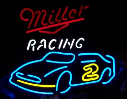 Miller Beer Racing NASCAR Neon Sign