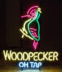 Woodpecker On Tap Neon Sign