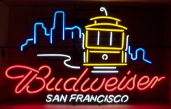 Budweiser Beer San Francisco Neon Sign  MY BEER SIGN COLLECTION – Not for sale but can be bought… budweisersanfranciscocablecar