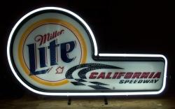 Lite Beer California Speedway Neon Sign