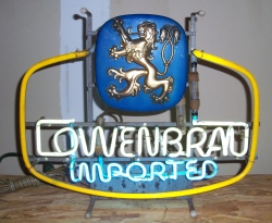 Lowenbrau Beer Neon Sign beer sign collection My Beer Sign Collection 2 – Not for sale but can be bought… lowenbrauimported1972