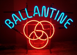 Ballantine Beer Neon Sign  MY BEER SIGN COLLECTION – Not for sale but can be bought… ballantineused