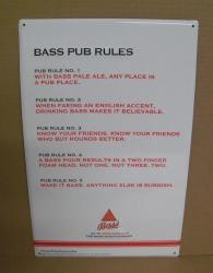 Bass Ale Pub Rules Tin Sign