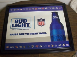 Bud Light Beer NFL Mirror
