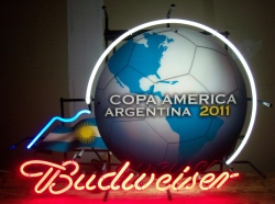 budweiser beer copa america neon sign
