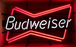 Budweiser Beer Bowtie Neon Sign