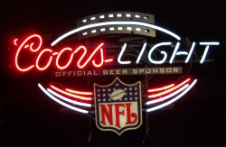 Coors Light Beer NFL Neon Sign