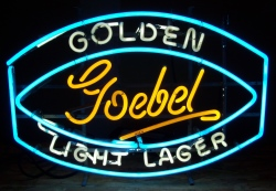 Goebel Golden Light Lager Neon Sign  MY BEER SIGN COLLECTION – Not for sale but can be bought… goebelgoldenlightlager