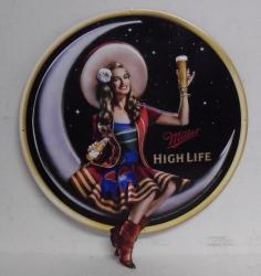Miller High Life Lady Tin Sign