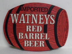 Watney S Red Barrel Beer Sign