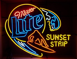 Lite Beer Sunset Strip Neon Sign beer sign collection My Beer Sign Collection 2 – Not for sale but can be bought… litesunsetstrip