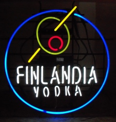 Finlandia Vodka Olive Neon Sign
