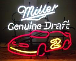 Miller Genuine Draft Beer NASCAR Neon Sign
