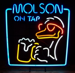 Molson Beer On Tap Loon Neon Sign beer sign collection My Beer Sign Collection 2 – Not for sale but can be bought… molsonontaploon1992