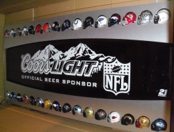 Coors Light Beer NFL LED Sign  My Beer Sign Collection – Not for sale but can be bought… coorslightnflhelmetled