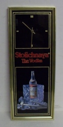Stolichnaya Vodka Clock