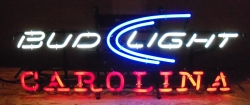 bud light beer carolina neon sign