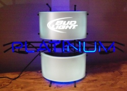 bud light platinum neon sign