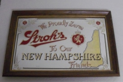 Strohs Beer New Hampshire Mirror
